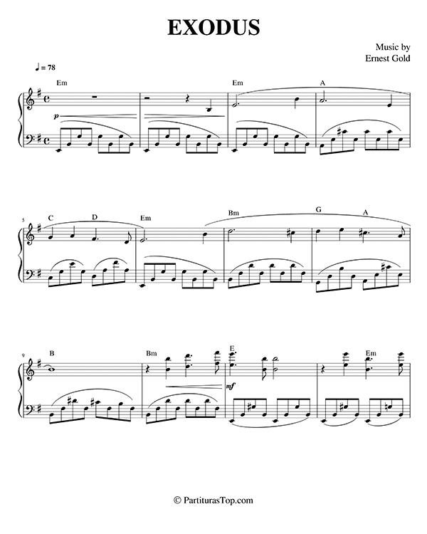 Exodus Partitura Piano PDF Richard Clayderman Exodus Partitura Piano