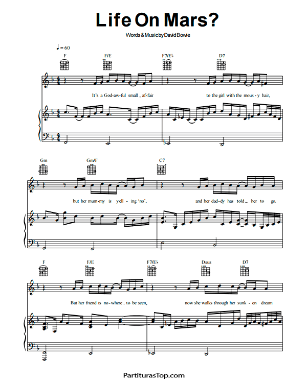 Life on Mars Partitura Piano PDF David Bowie Life on Mars Partitura Piano