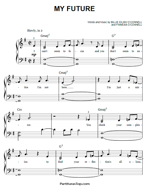 My Future Partitura PDF Billie Eilish My Future Partitura Piano Facil