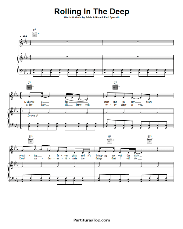 Rolling In The Deep Partitura Piano PDF Adele Rolling In The Deep Partitura Piano.