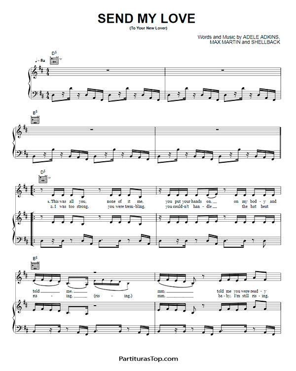 Send My Love Partitura Piano PDF Adele Send My Love Partitura Piano