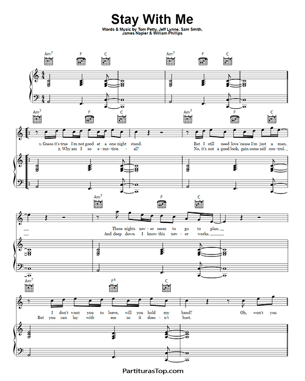 Stay With Me Partitura Piano PDF Sam Smith Stay With Me Partitura Piano