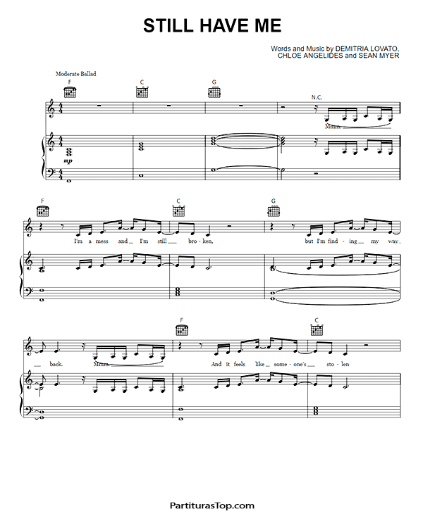 Still Have Me Partitura Piano PDF Demi Lovato Still Have Me Partitura Piano